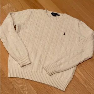 RALPH LAUREB large cable sweater - ivory